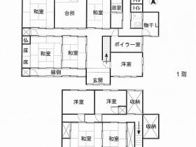円山川沿いの住宅地に佇む家(豊岡市今森)