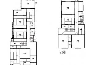 部屋数11室で大家族におすすめ|豊岡市出石町松枝|一戸建て