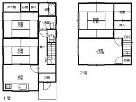 間取り4Kの家|豊岡市下陰|一戸建て