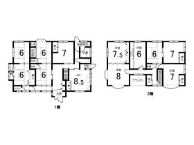 ゆったりと過ごせる11DKと部屋数が多いお家です!【出石町奥小野】